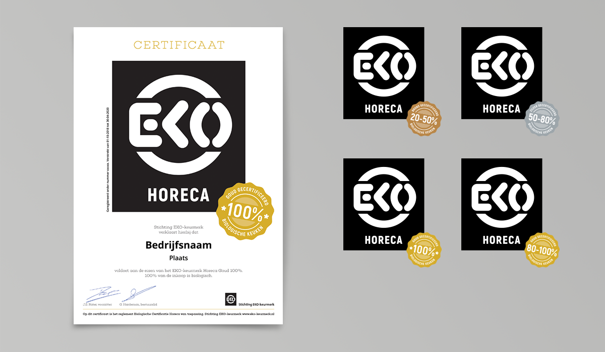 Horeca certificaten en -folder