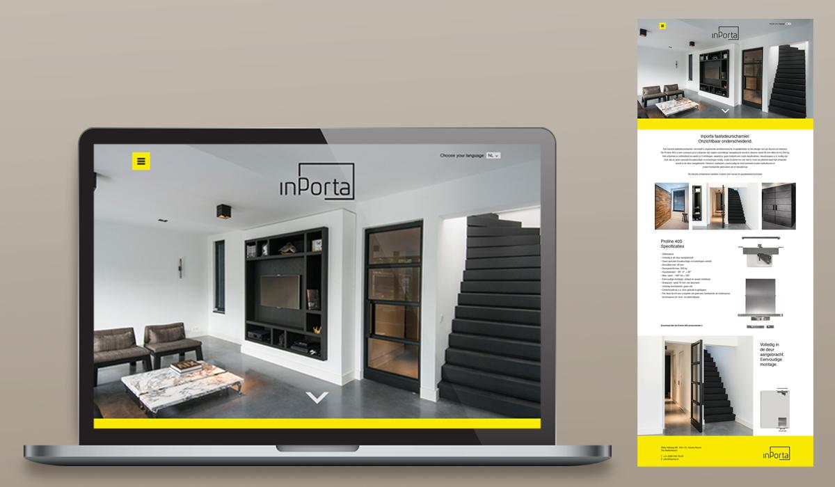 Inporta (branding, identiteit, huisstijl, website)