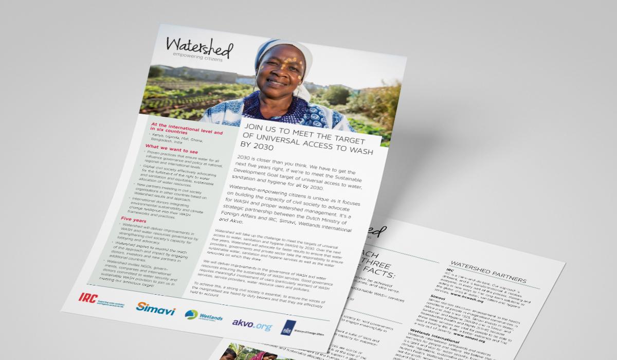 Watershed (opmaak o.a. flyers, rapporten, boeken, banners)
